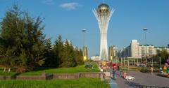 Baiterek monument in Astana Stock Footage