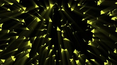 Gold triangle background Stock Footage