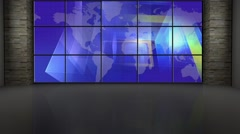 News TV Studio Set 201- Virtual Green Screen Background Loop Stock Footage