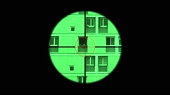 Sniper Night Vision Telescopic Sight Stock Footage