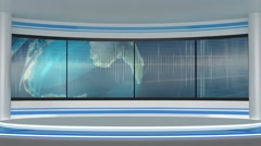 News TV Studio Set 197- Virtual Green Screen Background Loop - stock footage