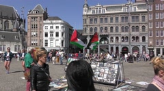 Political activists protest against israeli occupation in the Middle East Stock Footage