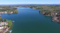 Flyby of Lake Keowee Stock Footage
