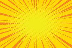 The sun comic book retro pop art background Stock Illustration