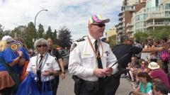 Chief Police Constable Vancouver gay parade Stock Footage