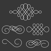 Swoosh line and divider calligraphy style Stock Illustration