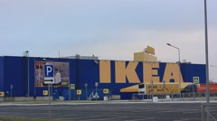 Ikea supermarket store  building Stock Footage