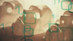 Binary data motion abstraction Stock Footage
