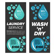Laundry service banners Stock Illustration