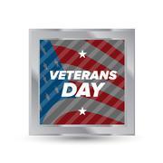 Veteran day badge Stock Illustration