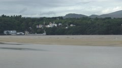 Portmerion village from the estuary Stock Footage