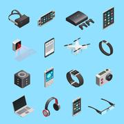 Isometric Icons Set Of Gadgets Piirros