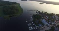 Cinema 4k aerial pan view on the city of Tammisaari, in Raasepori, Uusimaa, F Stock Footage