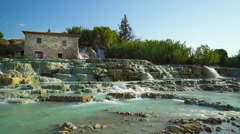 Natural Thermal Summer In Saturnia, Tuscany  Italy Stock Footage
