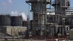Steam escaping in a Refinery Stock Footage