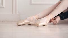 Ballerina dress pointes Stock Footage