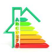 3D illustration of energy efficiency symbol Stock Illustration