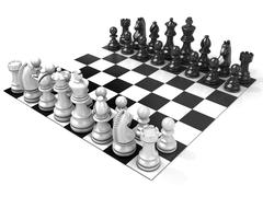 Chess Board with all chess pieces Stock Illustration