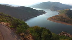Aerial Landscape of a Mountain Lake. Stock Footage