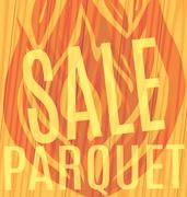 Sale Parquet flames of fire wooden Stock Illustration