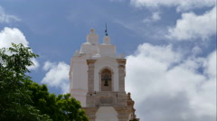 The towers of Santo Antonio's Church, time lapse Stock Footage