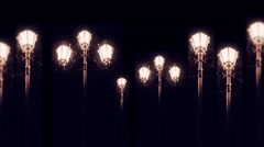 Street lights motion background Stock Footage