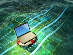 Laptop emergency Stock Illustration