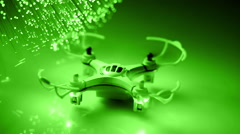 Drone with Fiber optics background, shot in HD Stock Footage