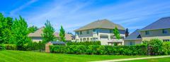 Custom built luxury house in the suburbs of Toronto, Canada Stock Photos