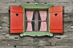 Chalet Window Stock Photos