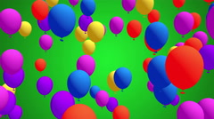 Colorful Balloons flying in slow motion, Festive, Party Video Background, Stock Footage