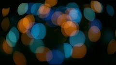 Christmas background. Festive abstract defocused circle with bokeh lights Stock Footage