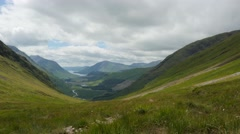 Timelapse over glen etive from a high vantage point Stock Footage