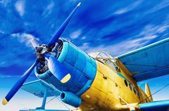 Old airplane Stock Photos