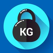 Weight Icon in trendy flat style. Sport fitness app symbol Stock Illustration
