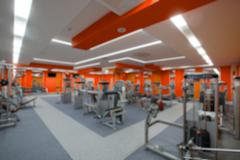 Blur abstract background modern fitness center lifestyle with health exercise Kuvituskuvat