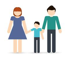 Parents and boy icon. Avatar Family design. Vector graphic Stock Illustration