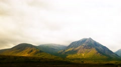 Timelapse over rannoch moor Stock Footage