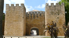 Governor's Castle, gate to historic center Stock Footage