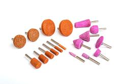 Industrial grinding and polishing steel drill bits set - stock photo