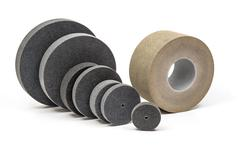 Industrial  grinding and polishing wheels - stock photo