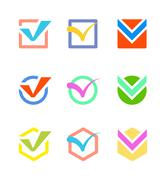 Check vote icon button - stock illustration