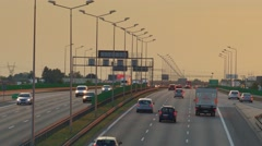 View of highway in Europe. UHD footage. Stock Footage