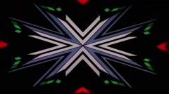 Changing kaleido shapes vj loop Stock Footage
