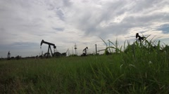 Low Angle Shot of Oil Pumps Arkistovideo