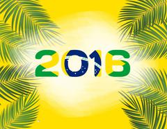 Rio. Brazil 2016. Olympic Summer Games. Abstract Colorful Background. Vector Stock Illustration