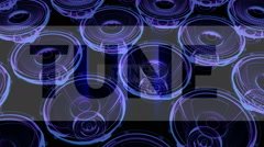vj musical motion footage - neon speakers and signs. 3D render - stock footage