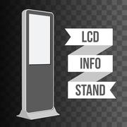 Trade show booth LCD TV Info stand. Piirros
