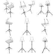 3d Speaker Podium on Tripod Set Stock Illustration