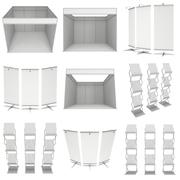 Trade show booth set. Floor Stands Collection. Stock Illustration